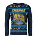 Zavvi Exclusive Avengers Thanos Knitted Christmas Jumper - Navy