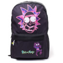Rick and Morty Rick's Face Placement Printed Backpack - Black