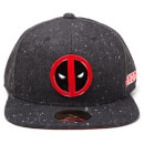 Marvel Deadpool Metal Badge Logo Snapback - Charcoal