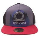 God of War Printed Metal Badge Snapback Cap - Grey