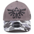 Nintendo The Legend of Zelda Tri-Force Logo Camouflage Cap - Grey