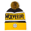 Marvel X-Men Men's Wolverine Beanie Hat with Pompom - Yellow