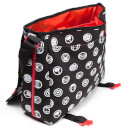 Marvel Comics Men's All Over Hero Crests Messenger Bag - Black