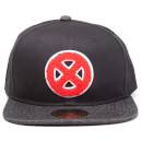 Marvel X-Men Men's Big X Logo Snapback Cap - Black