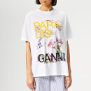 Ganni Women's Davies T-Shirt - Bright White