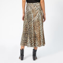 Ganni Women's Blakely Silk Skirt - Leopard