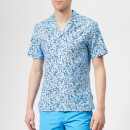 Orlebar Brown Men's Travis Ninfea Shirt - Bahama Blue/Navy/White