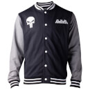 Marvel The Punisher Men's Varsity Jacket - Black