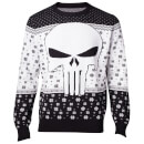 Marvel The Punisher Christmas Knitted Jumper - Black