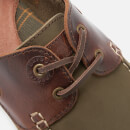 Barbour Men's Capstan Leather Boat Shoes - Olive/Mahogany