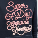 Superdry Women's 67 Genuine Fade Embroidery Entry Hoodie - Eclipse Navy