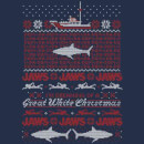 Jaws Great White Christmas Men's T-Shirt - Navy