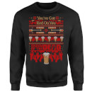 Shaun Of The Dead You've Got Red On You Christmas Sweatshirt - Black