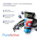 Garnier Pure Active 3in1 Charcoal Blackhead Mask Wash Scrub 150ml