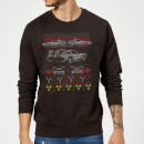 Back To The Future Back In Time for Christmas Sweatshirt - Black