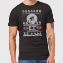 E.T. the Extra-Terrestrial Christmas Men's T-Shirt - Black