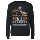 E.T. the Extra-Terrestrial Be Good or No Presents Women's Sweatshirt - Black