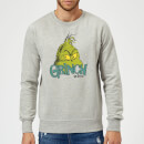 The Grinch Face Christmas Sweatshirt - Grey