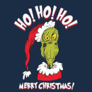 The Grinch Ho Ho Ho Men's Christmas T-Shirt - Navy