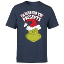 The Grinch Im Here for The Presents Men's Christmas T-Shirt - Navy