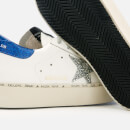 Golden Goose Deluxe Brand Women's Hi Star Leather Trainers - White/Blue/Silver Glitter Star