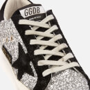Golden Goose Deluxe Brand Women's Superstar Leather Trainers - Silver Glitter/Black Star