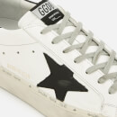 Golden Goose Deluxe Brand Men's Hi Star Leather Trainers - White/Black Star