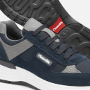 Church's Men's Suede/Nylon Runner Style Trainers - Blue