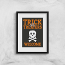 Trick or Treaters Welcome Skull Art Print