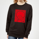 Nintendo Super Mario Toad Retro Line Art Women's Sweatshirt - Black