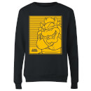 Nintendo Super Mario Bowser Retro Line Art Women's Sweatshirt - Black