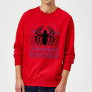 Marvel Avengers Spider-Man Logo Christmas Sweatshirt - Red