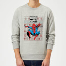 Marvel Avengers Classic Spider-Man Christmas Sweatshirt - Grey