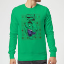 Marvel Avengers Hulk Christmas Sweatshirt - Kelly Green