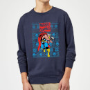 Marvel Avengers Thor Christmas Sweatshirt - Navy