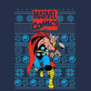 Marvel Avengers Thor Men's Christmas T-Shirt - Navy