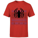 Marvel Avengers Spider-Man Logo Men's Christmas T-Shirt - Red