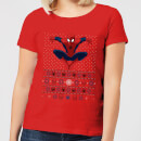 Marvel Avengers Spider-Man Women's Christmas T-Shirt - Red