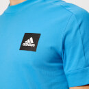 adidas Men's ID Stadium Short Sleeve T-Shirt - Shock Cyan