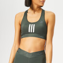 adidas Women's Don't Rest 3 Stripes Bra - Legend Ivy