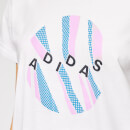 adidas Women's All Over Print Pack Short Sleeve T-Shirt - White