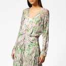 Preen By Thornton Bregazzi Women's Marlie Dress with Pink Slip - Pink/Green Pavement