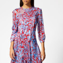 Preen By Thornton Bregazzi Women's Helen Dress with Blue Slip - Red/Blue Pavement