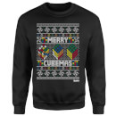 Rubiks Merry Cubemas Christmas Sweatshirt - Black
