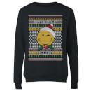 Smiley World Have A Smiley Holiday Women's Christmas Sweatshirt - Black