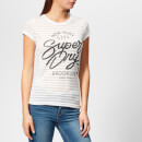Superdry Women's NYC Burnout Stripe Entry T-Shirt - Optic