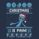 Rick and Morty Christmas Mr Meeseeks Pain Herren T-Shirt - Navy Blau