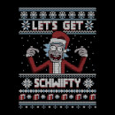 Rick and Morty Lets Get Schwifty Women's Christmas T-Shirt - Black