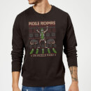 Rick and Morty Pickle Rick Christmas Sweatshirt - Black