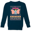 Disney Classic Dumbo Kids Christmas Sweatshirt - Navy